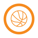 This image shows a basketball icon